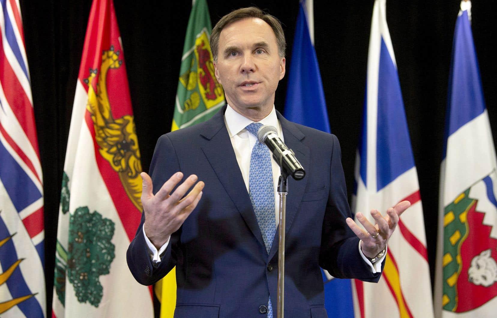 L'annonce par le ministre canadien des Finances, Bill Morneau, de la répartition de l'enveloppe de péréquation a fait des malheureux parmi ses homologues des provinces.