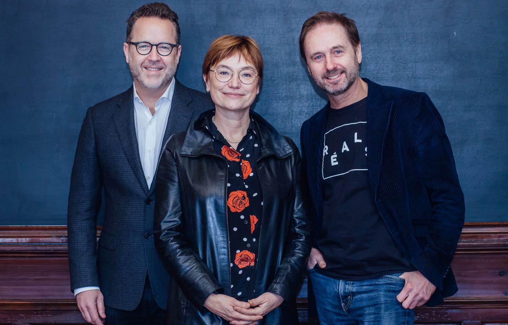 De gauche à droite: Patrick Roy, Ségolène Roederer et Gabriel Pelletier