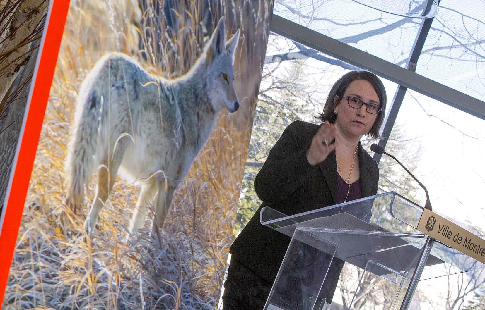 Émilie Thuillier, la mairesse d'Ahuntsic-Cartierville, a présenté lundi «le premier plan de gestion de la présence du coyote en milieu urbain à voir le jour au Québec». Quelques incidents impliquant des coyotes ont eu lieu en 2017 et en 2018 dans son arrondissement.