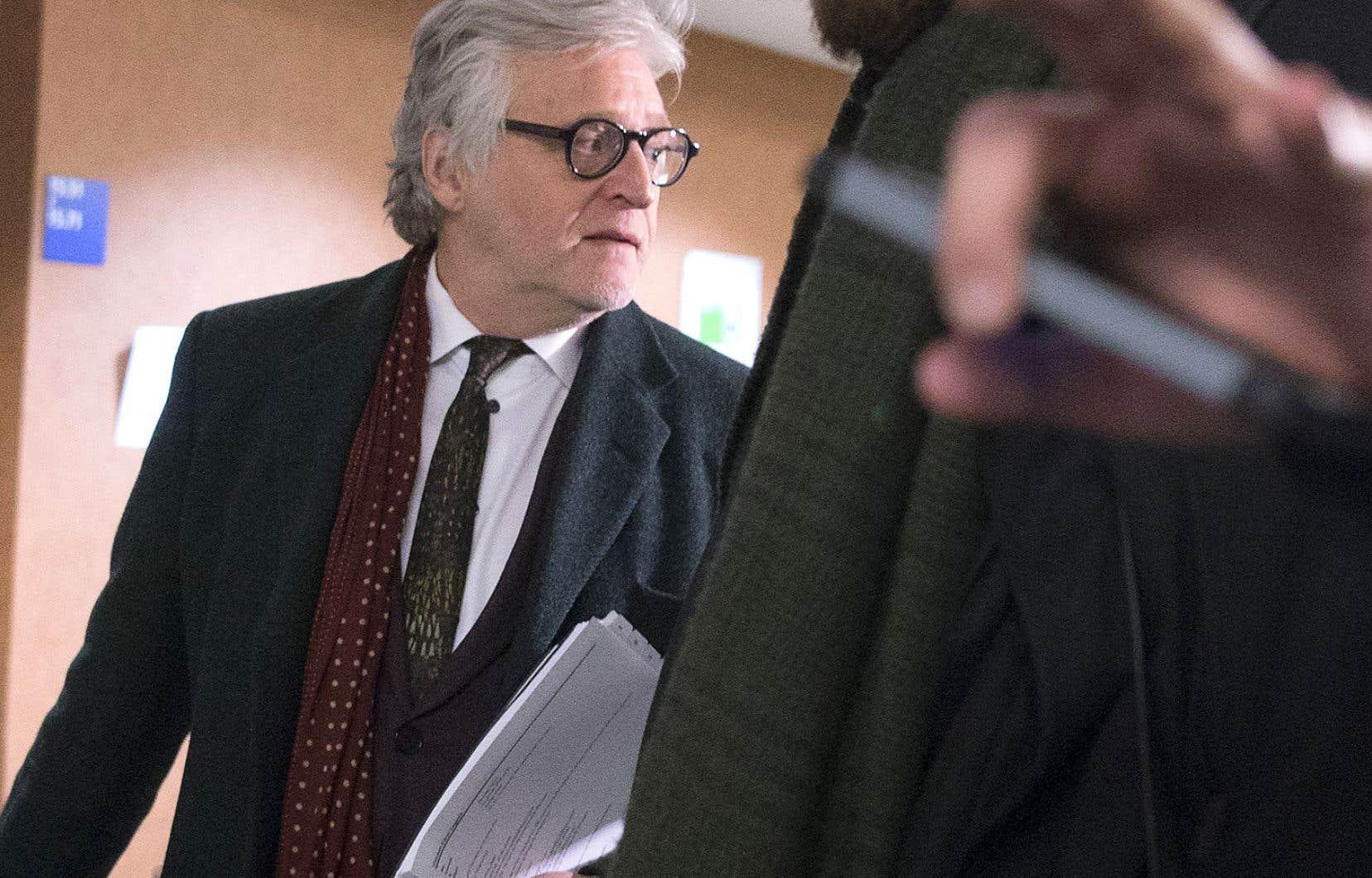 Gilbert Rozon au palais de justice en février 2018