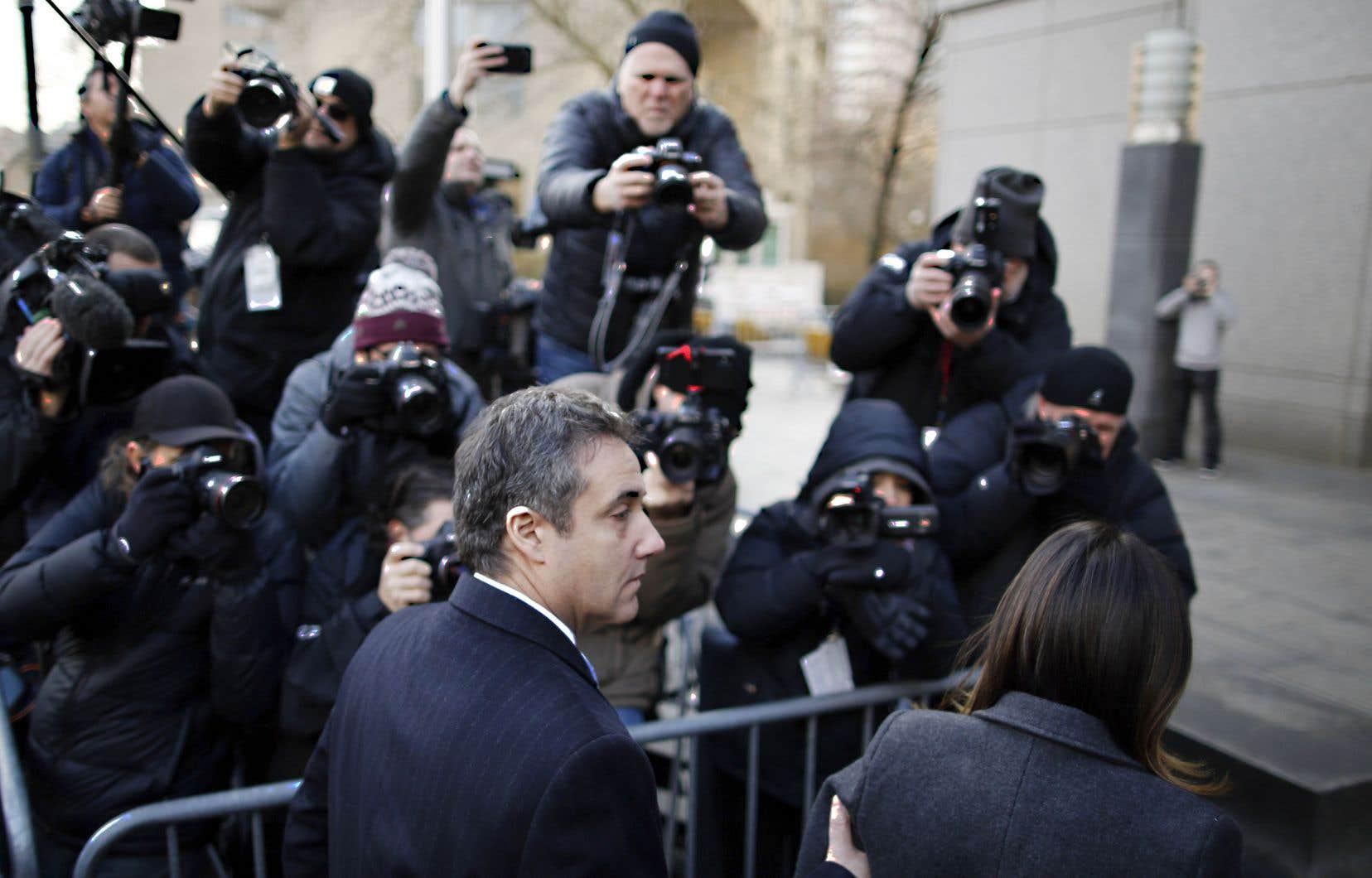 Michael Cohen à son arrivée à la cour fédérale à New York, mercredi, avant de connaître la nature de sa sentence.