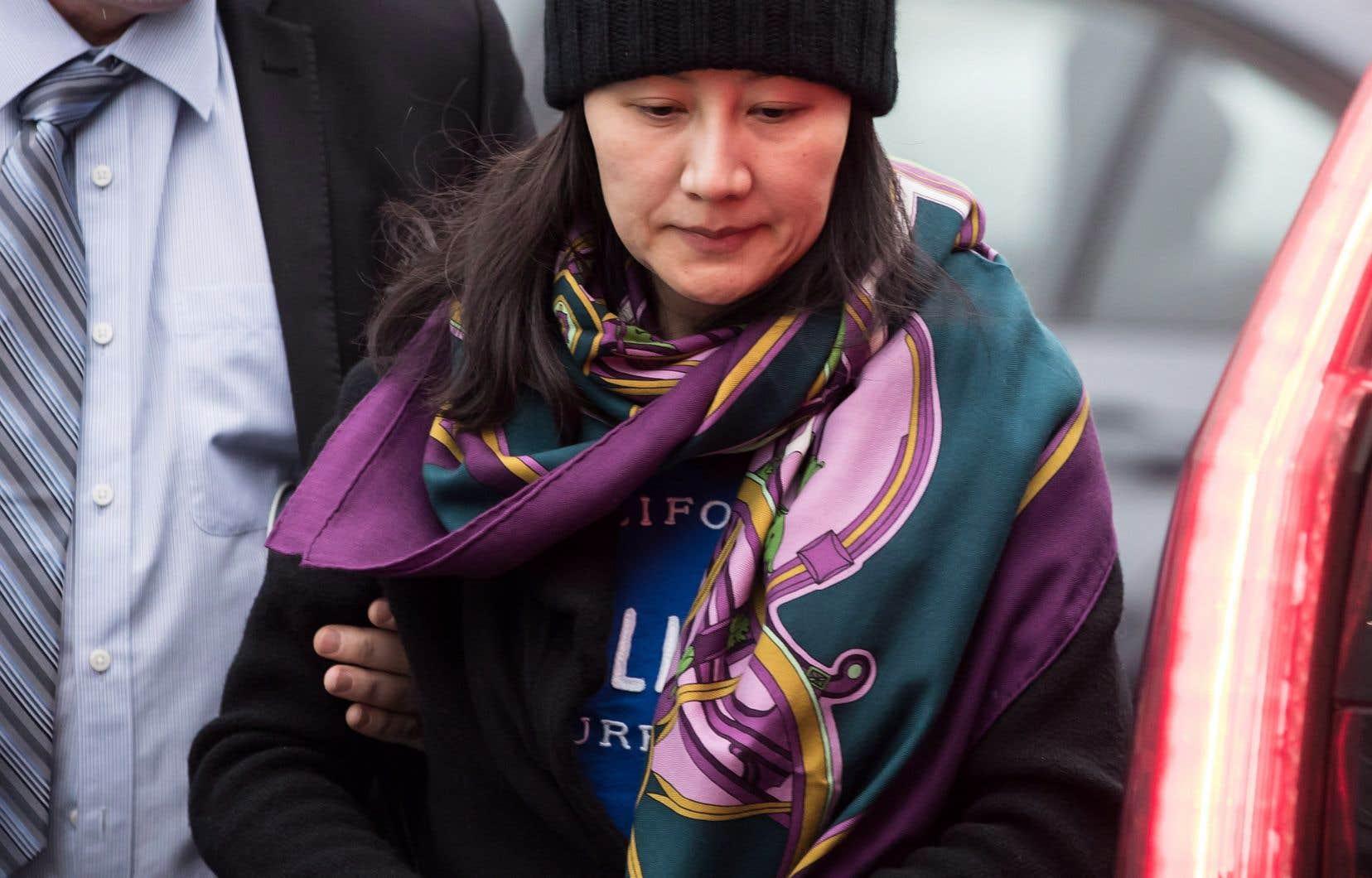 Arrêtée le 1er décembre,Meng Wanzhou a été libérée sous caution et doit comparaître devant la cour à Vancouver en février pour ce qui risque d'être un long processus judiciaire.