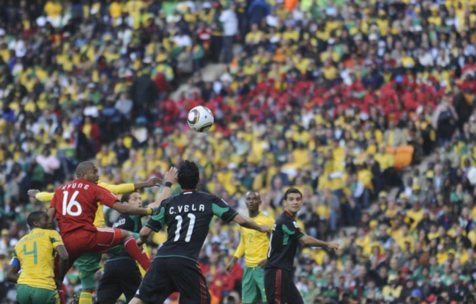 Le match d'hier qui opposait le Mexique à l'Afrique du Sud s'est terminé par «une nulle».
