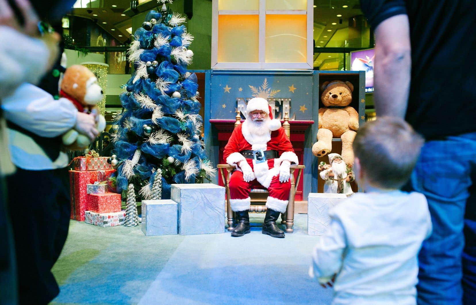 Vrai que le mythe du père Noël s'incarne d'une manière toute particulière dans la réalité: il peut être vu.