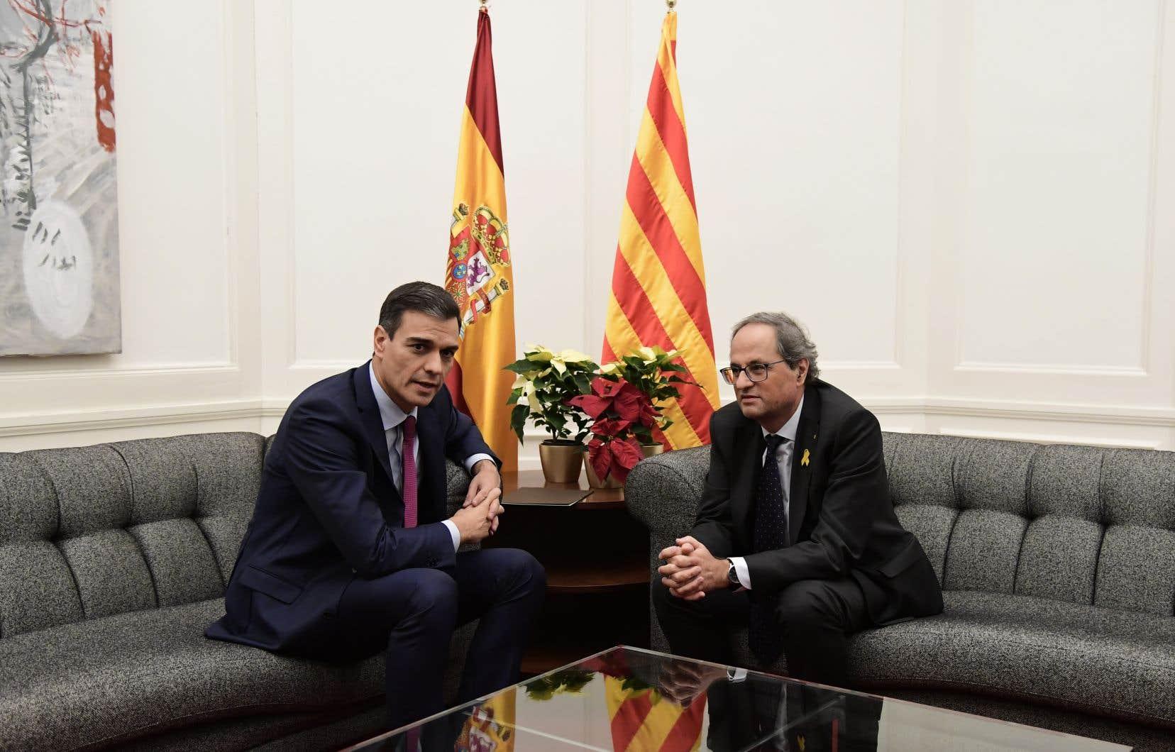 Une nouvelle rencontre entre MM.Sanchez et Torra pourrait intervenir dès le mois de janvier.