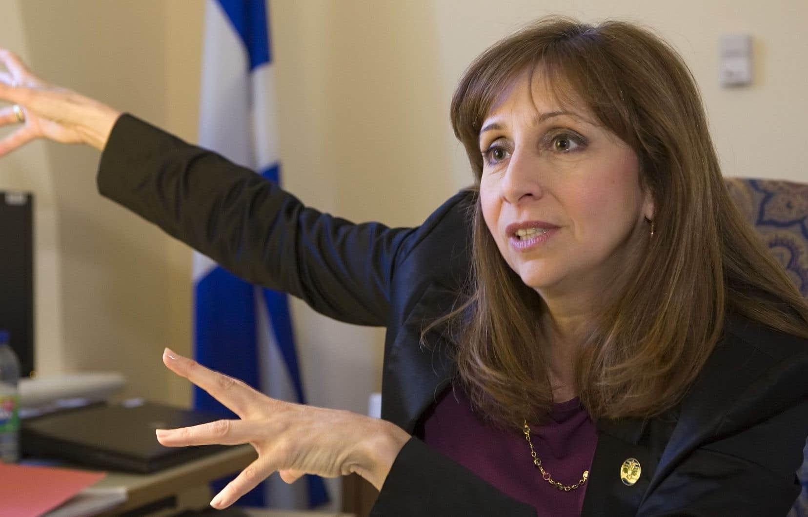 «Je m'attends à des actions concrètes», a avancé la ministre responsable de la Langue française, Nathalie Roy.