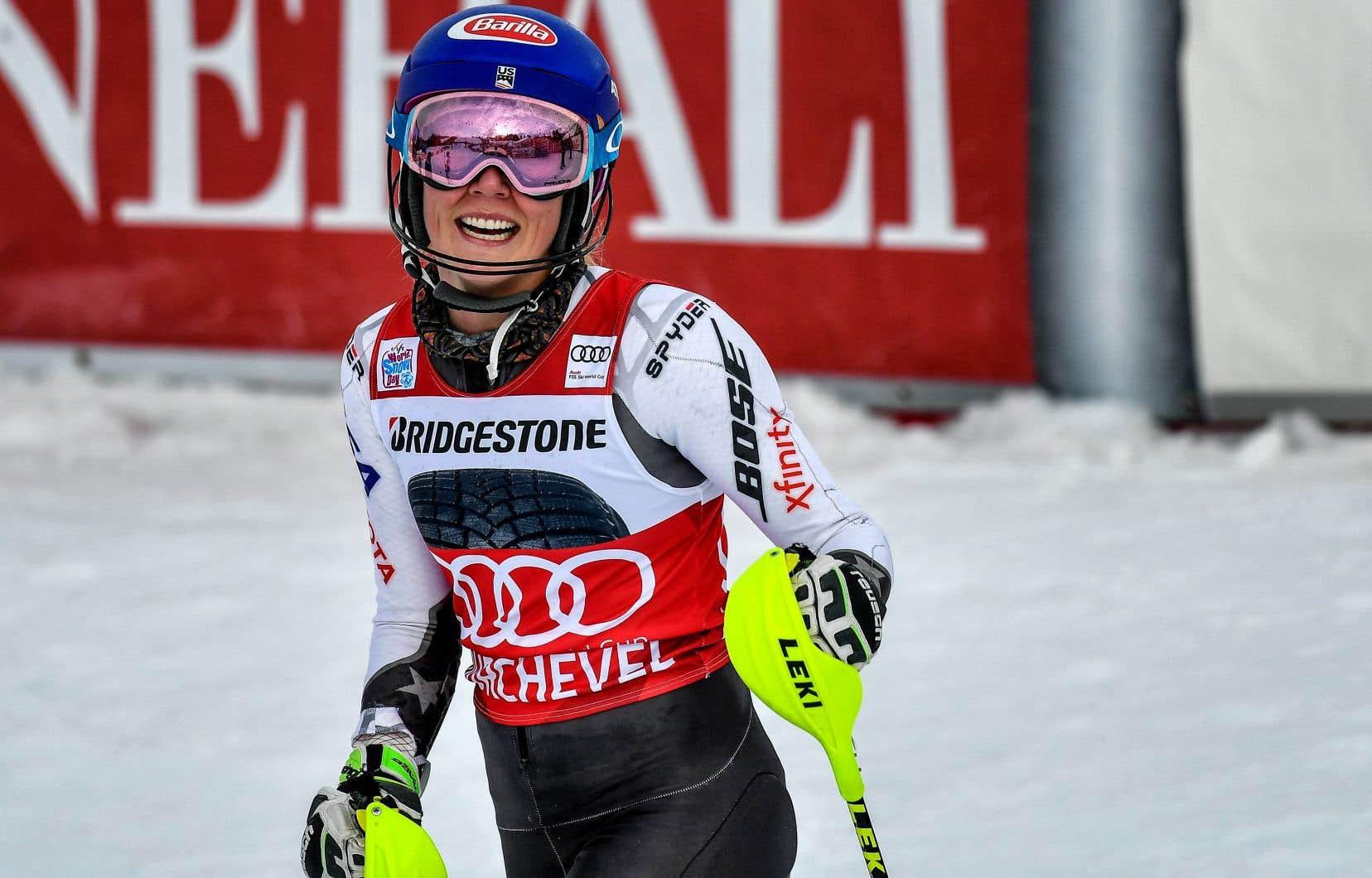 Mikaela Shiffrin a rejoint son idole d'enfance, l'Autrichienne Marlies Schild, avec 35 victoires en slalom sur le circuit de la Coupe du monde.