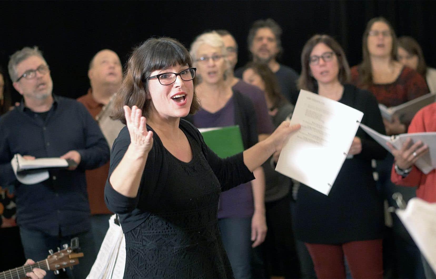 En fondant la chorale Chœur de loups, en septembre dernier, Marie-Josée Forest a matérialisé son intention de créer un lieu où tout le monde serait bienvenu.