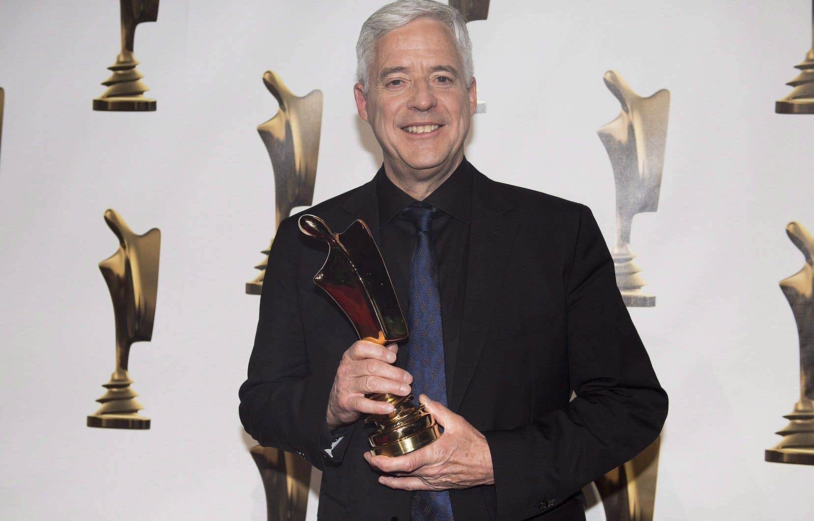 L'animateur et journaliste scientifique Charles Tisseyre, lors du dernier gala des prix Artis