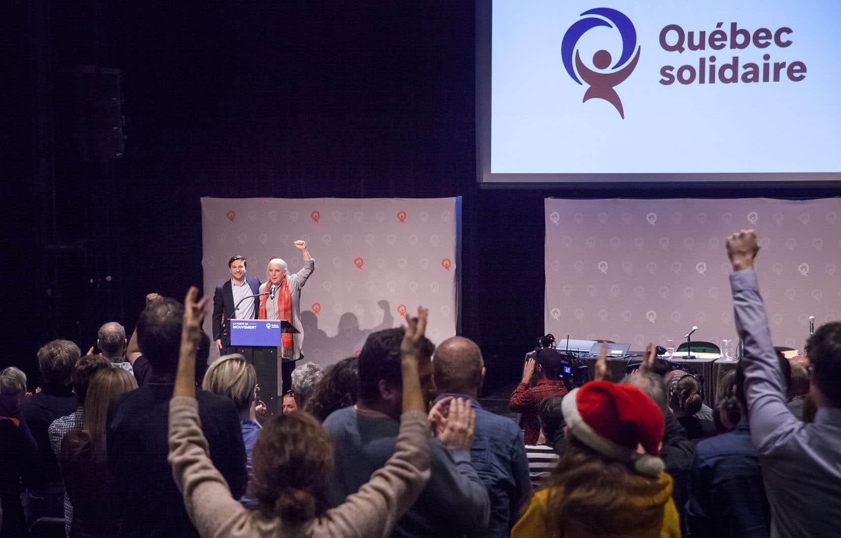 La députation de Québec solidaire a accueilli favorablement l'initiative.