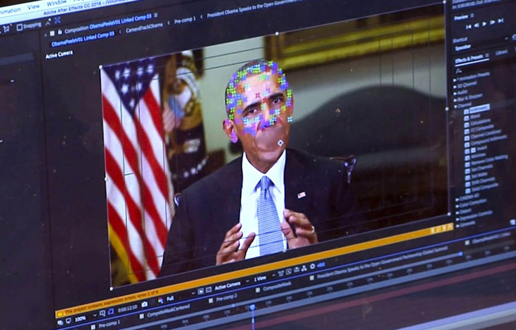 Une fausse vidéo faisant parler Barack Obama a circulé en 2018.