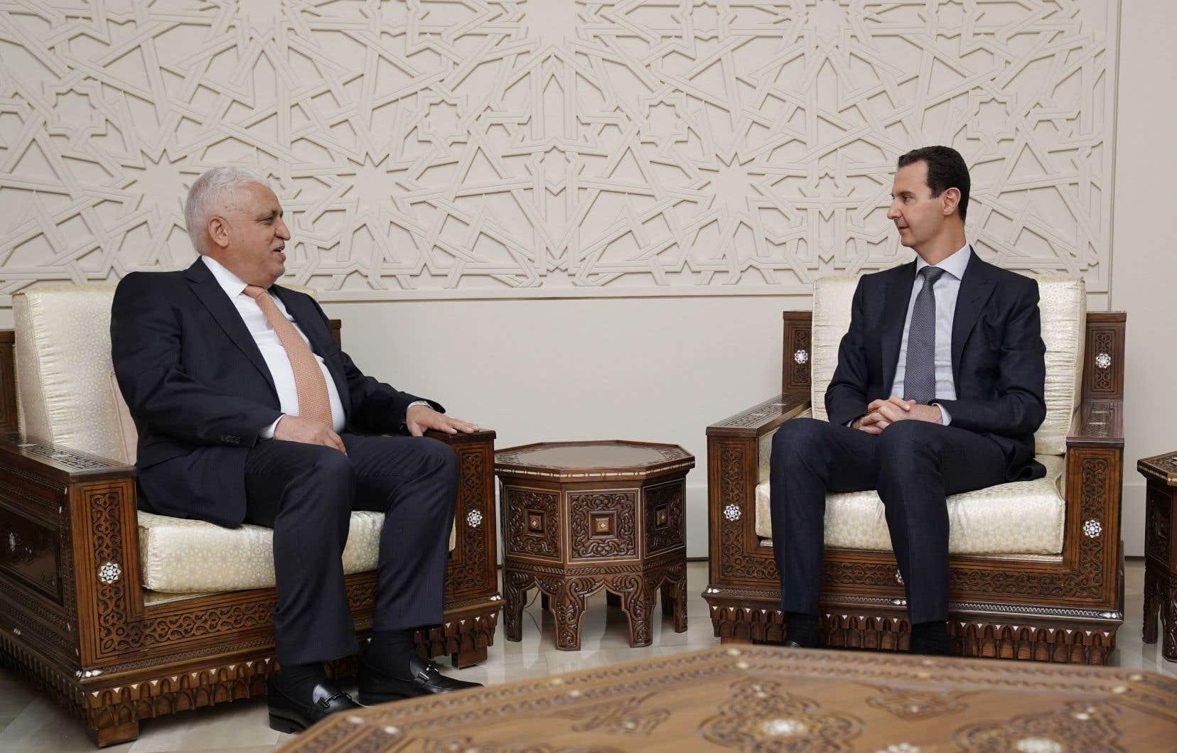 Mis à l'écart de la scène diplomatique régionale, M.Assad semble bénéficier aujourd'hui d'un retour en grâce.
