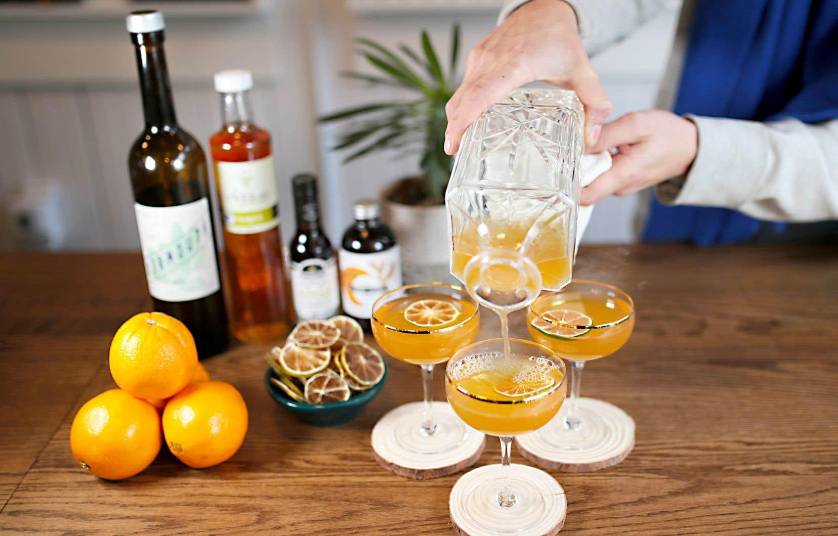 La recette de cette semaine permet de préparer trois ou quatre cocktails.