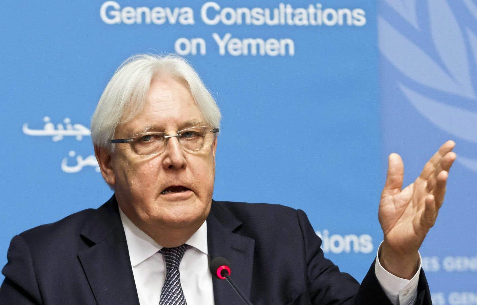 L'émissaire de l'ONU pour le Yémen Martin Griffiths