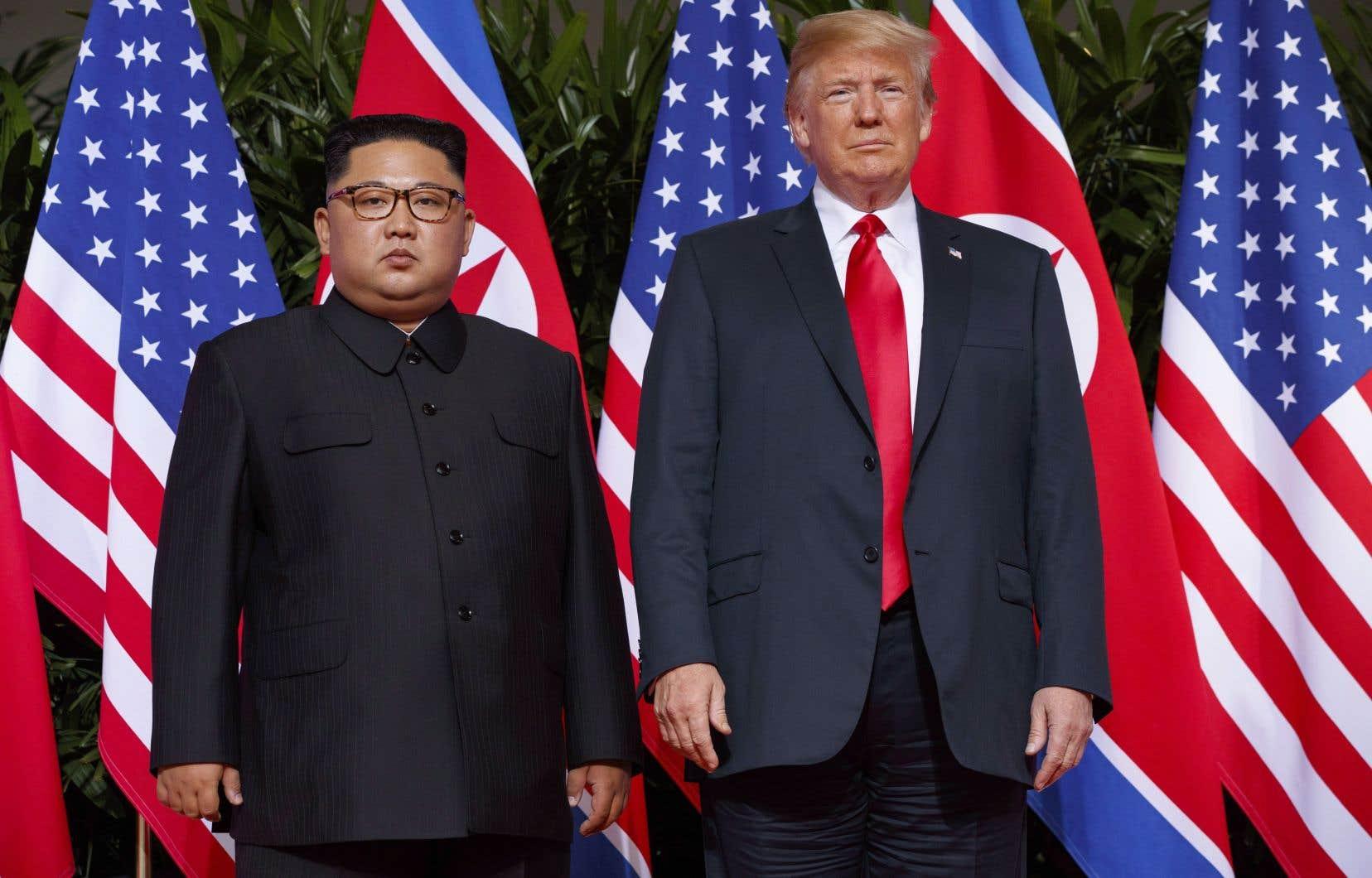 Donald Trump, 72 ans, et Kim Jong-un, de plus de 30 ans son cadet, se sont rencontrés pour la première fois en juin dernier à Singapour.