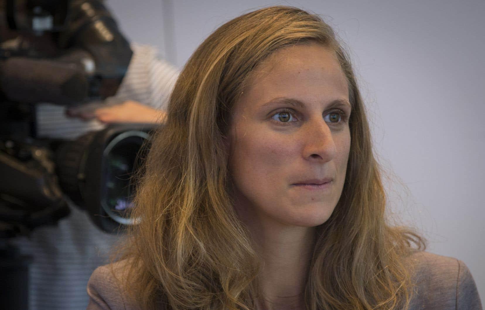 La porte-parole solidaire en matière de condition féminine, Christine Labrie