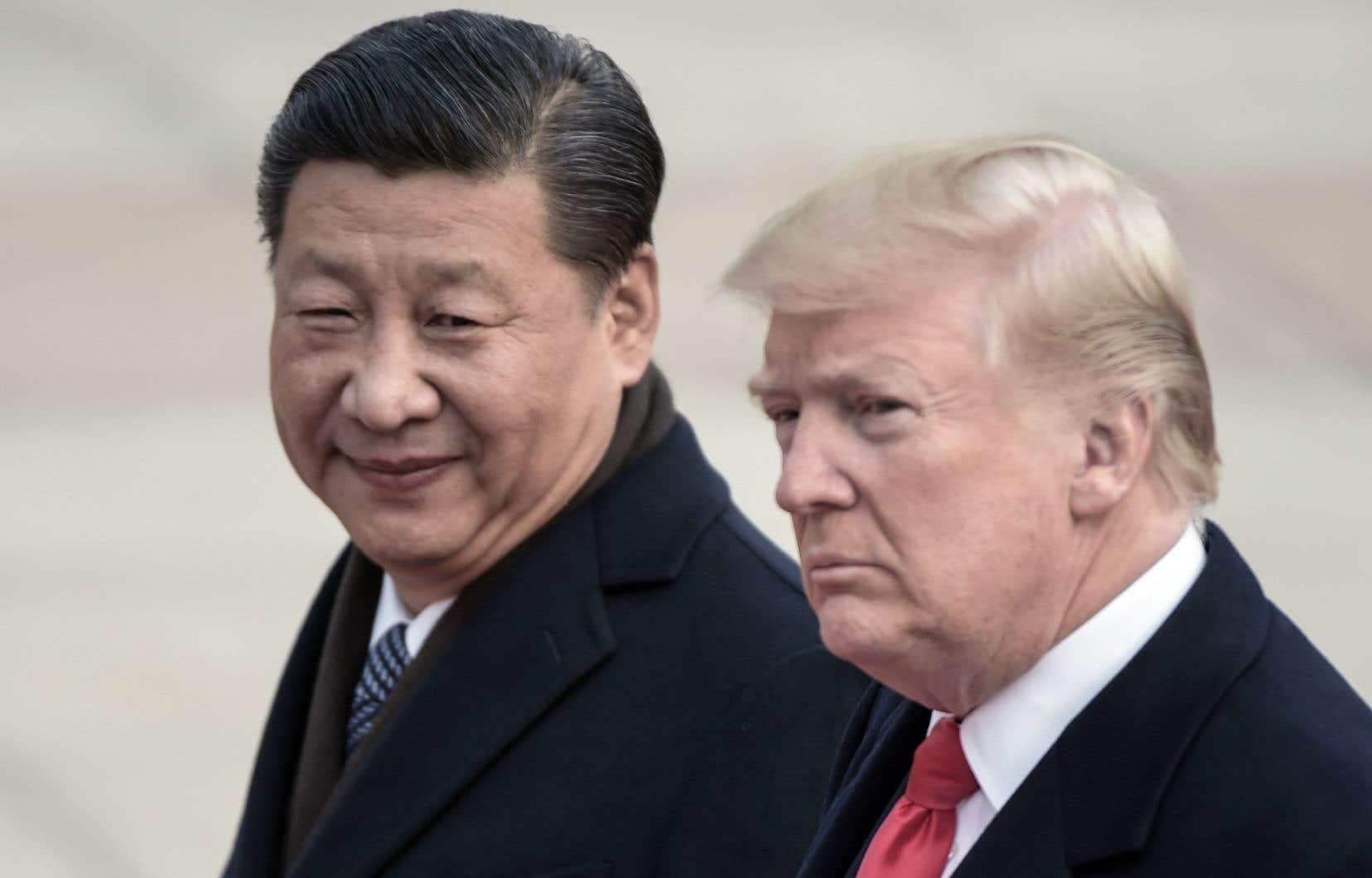 Les présidents chinois, Xi Jinping, et américain, Donald Trump