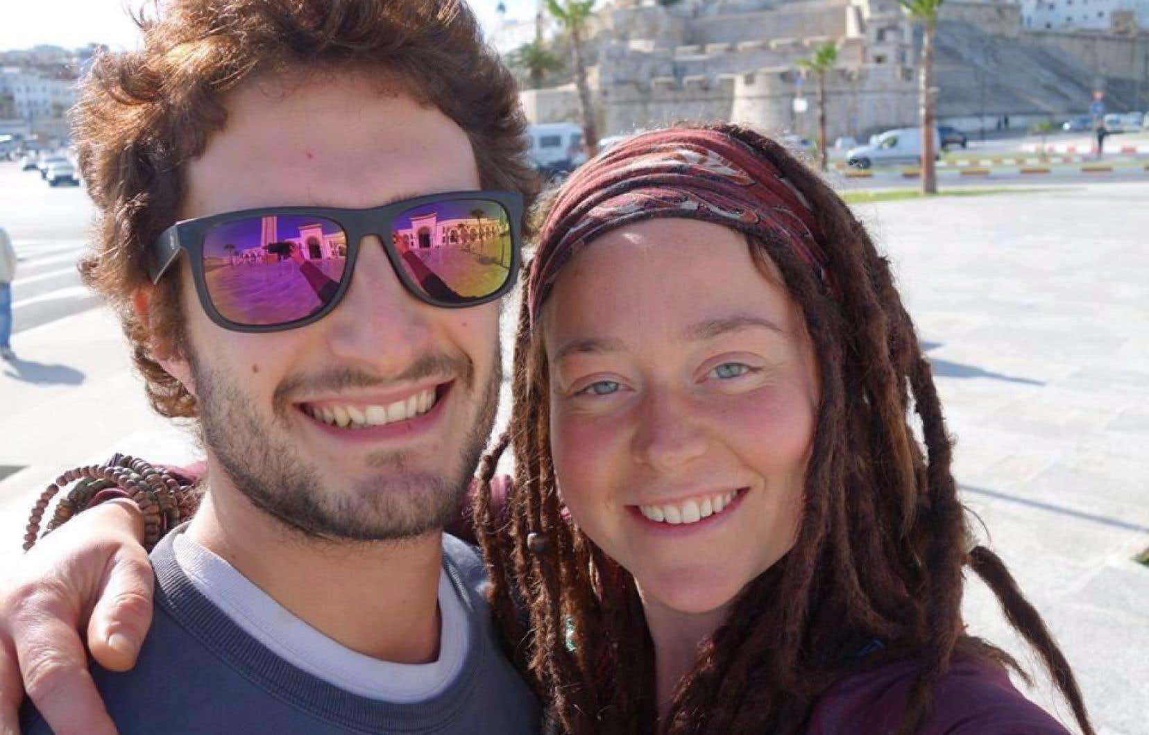 Édith Blais, de Sherbrooke, et son ami italien, Luca Tacchetto
