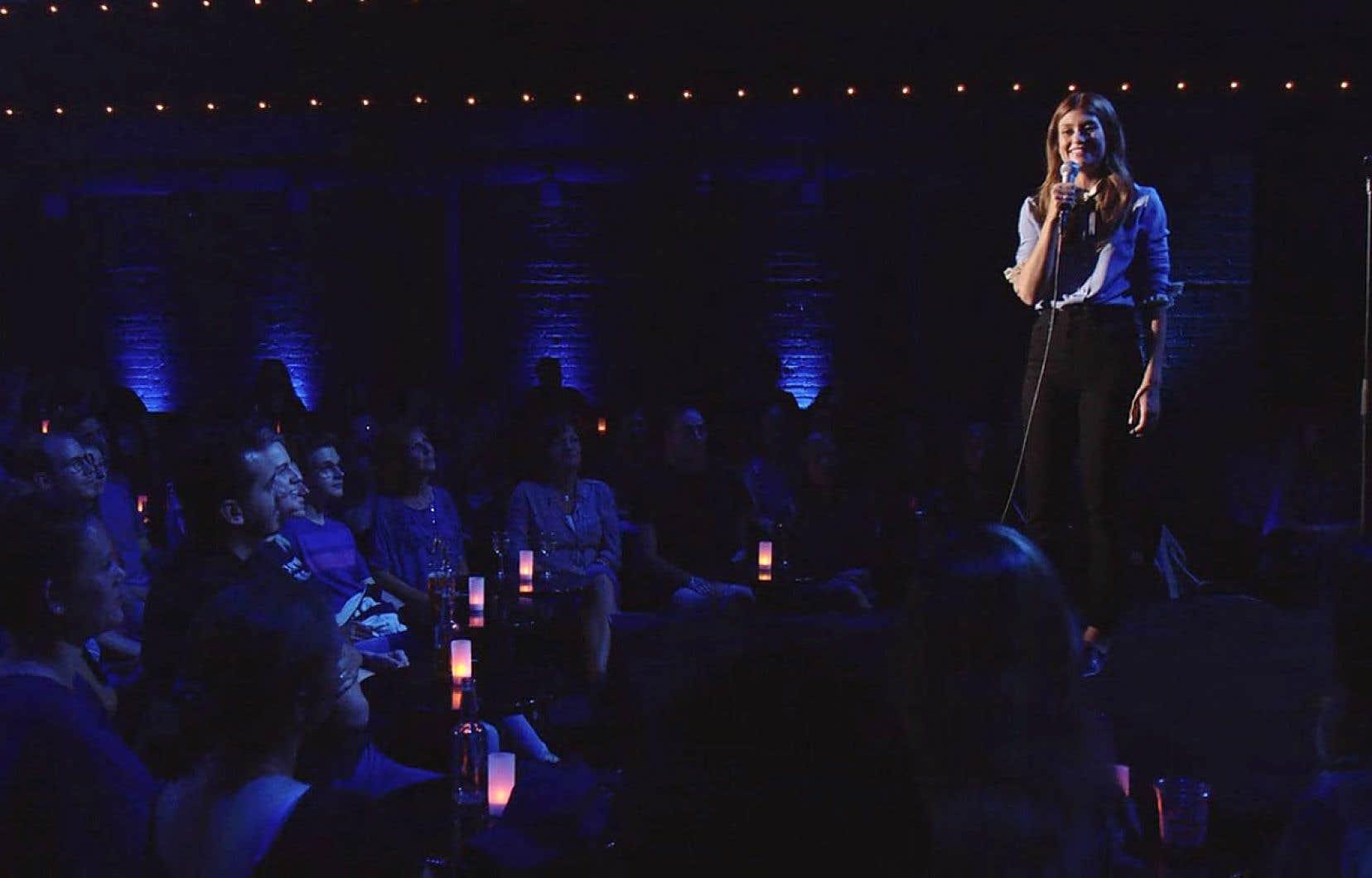 La plateforme en ligne a eu la bonne idée de mettre en lumière des artistes en début de parcours scénique, et qui sont peut-être davantage de la génération Netflix, comme l'humoriste Katherine Levac.