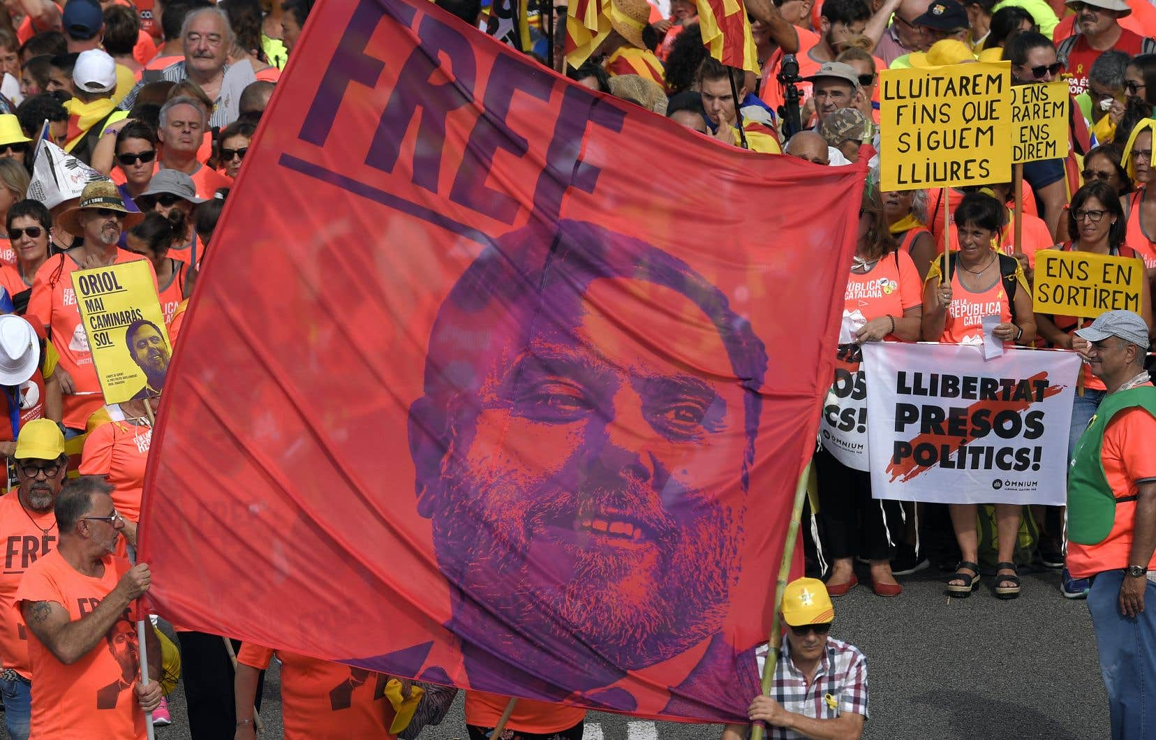 En prison depuis un an, l'ancien vice-président catalan Oriol Junqueras est le seul à encourir la peine la plus élevée de 25 ans de prison et d'inéligibilité.