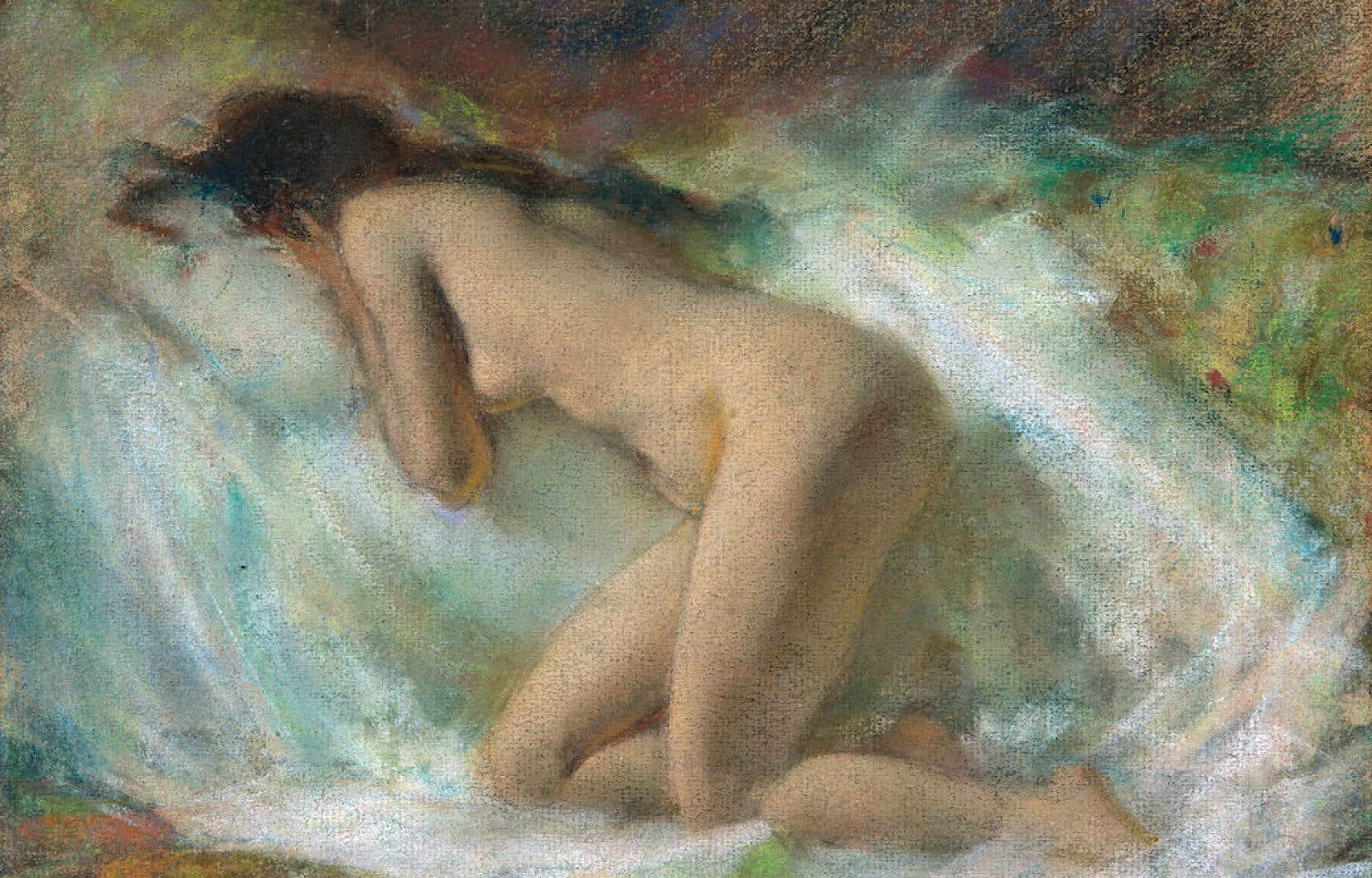 Marc-Aurèle de Foy Suzor-Coté (1869 –1937), «Nu agenouillé vu de profil ou Muse endormie», 1921
