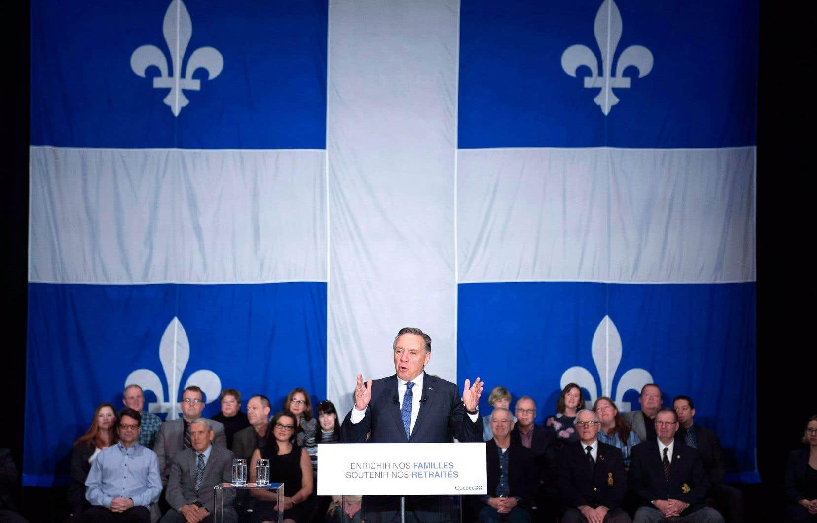 Le premier ministre François Legault lors de la présentation de la mise à jour économique de son gouvernement, en décembre dernier