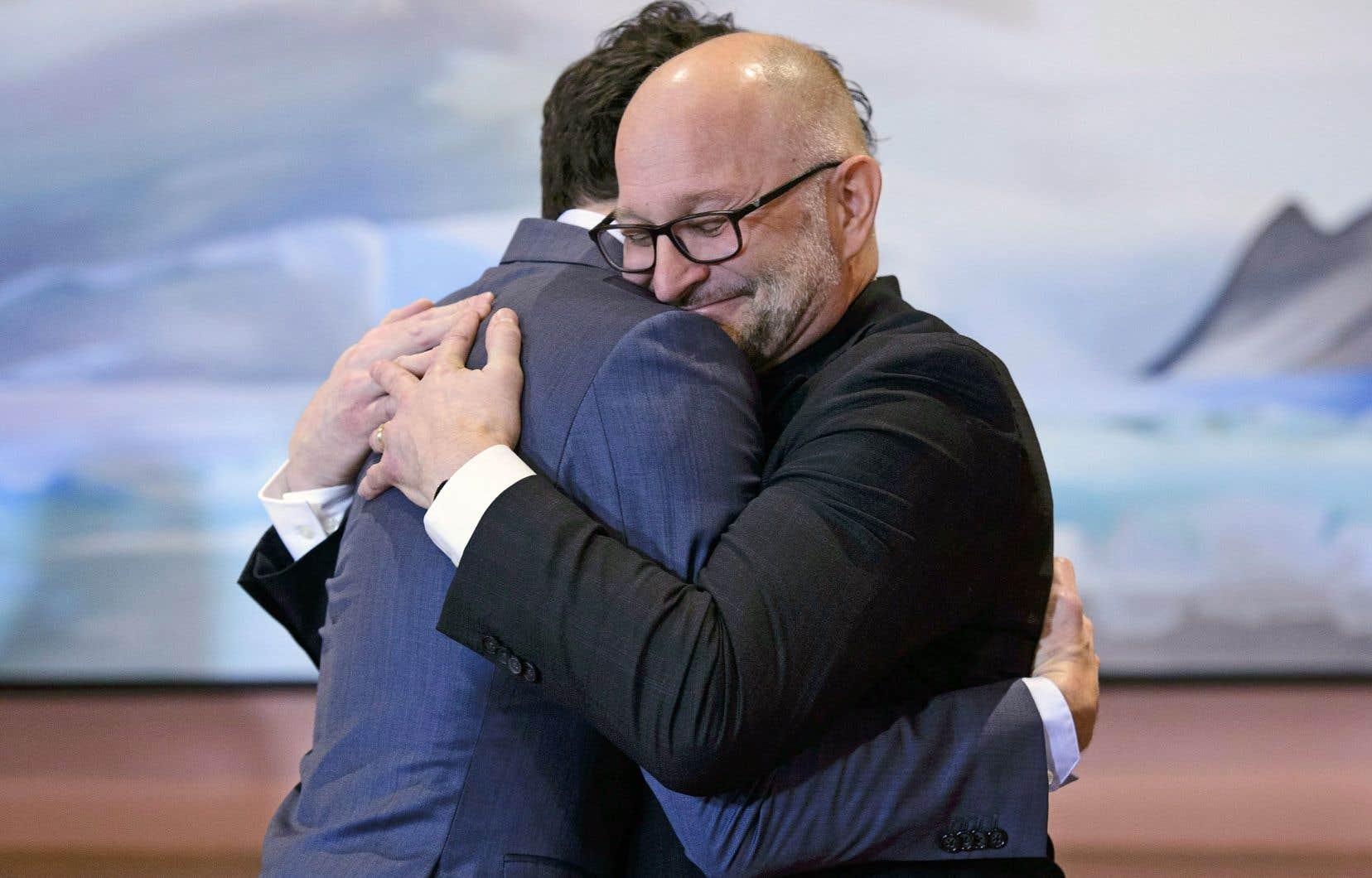 Justin Trudeau et le député David Lametti.En tant que ministre de la Justice, M.Lametti aura notamment à se pencher sur l'actualisation de la Loi sur l'aide médicale à mourir.