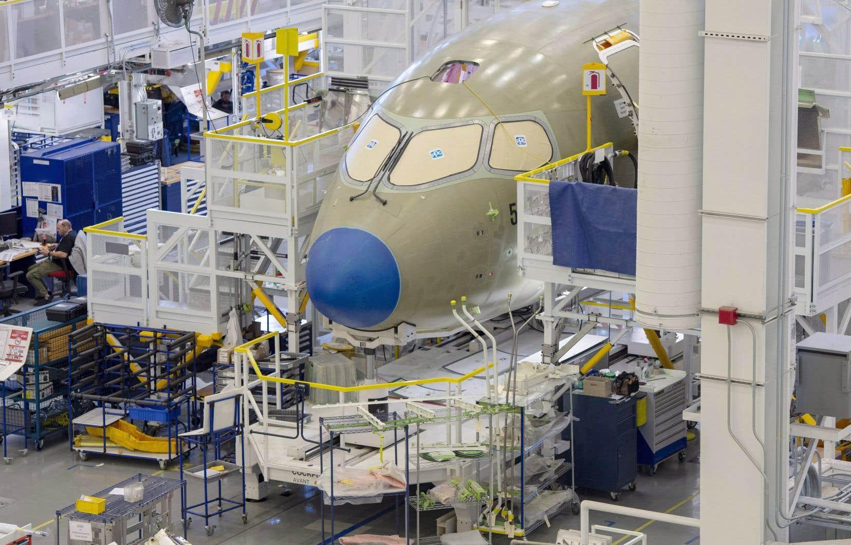 La chaîne de montage de Mirabel, où sont fabriqués les appareils A220.
