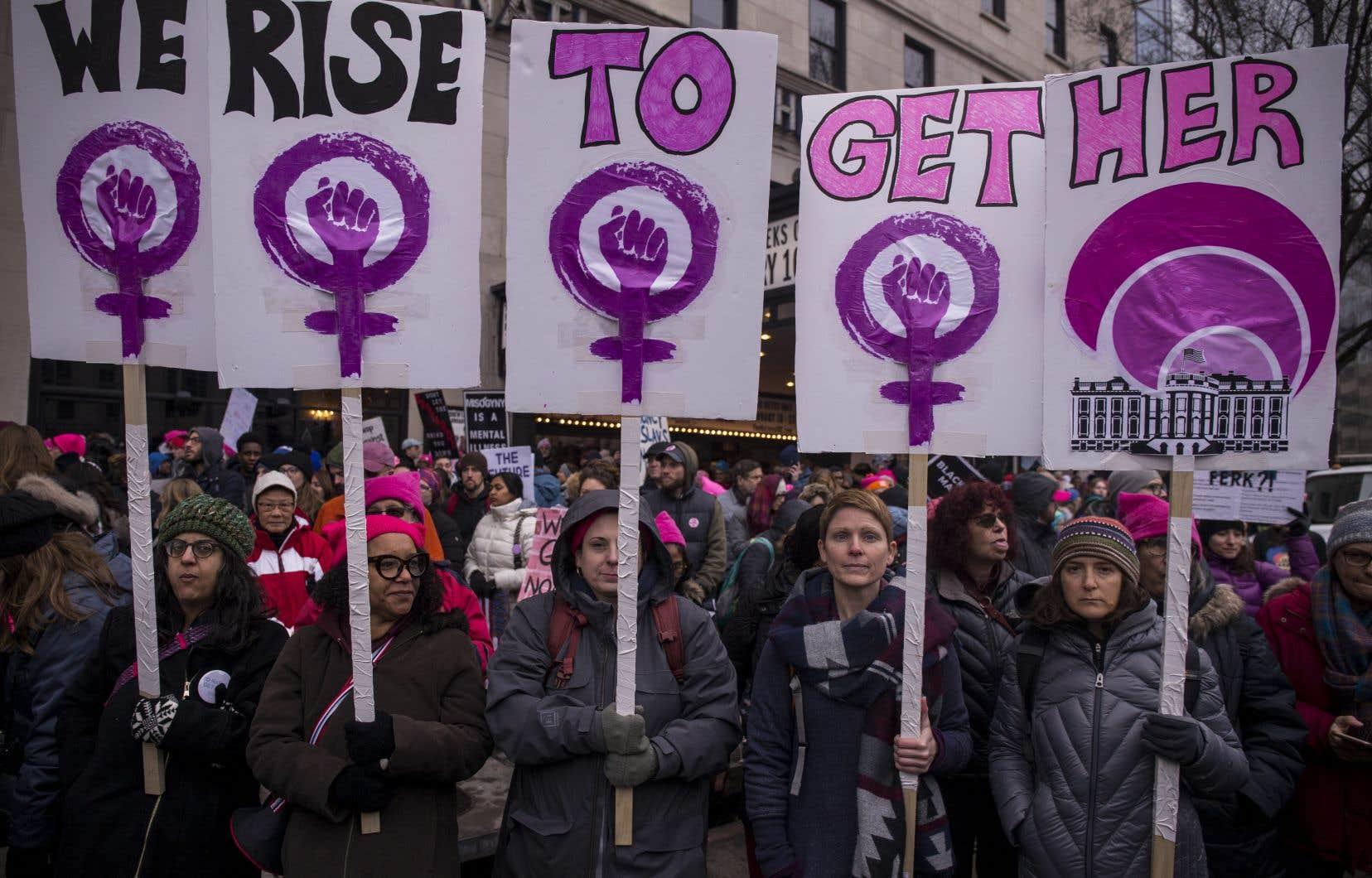Des marches pour les femmes ont aussi eu lieu aux États-Unis, dont à Washington.