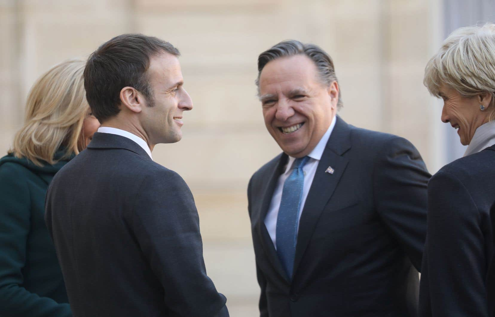 Après avoir rencontré Emmanuel Macron,François Legault a fait de même avec une trentaine de grandes entreprises.