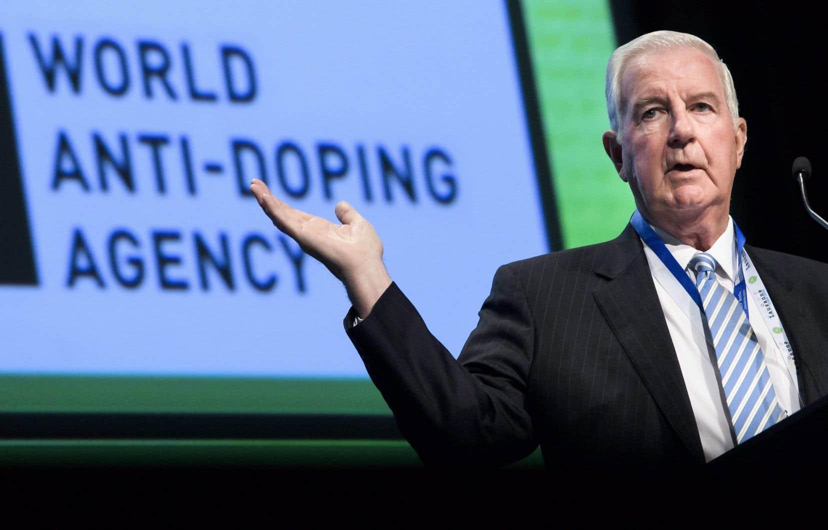 Le président de l'Agence mondiale antidopage, Craig Reedie