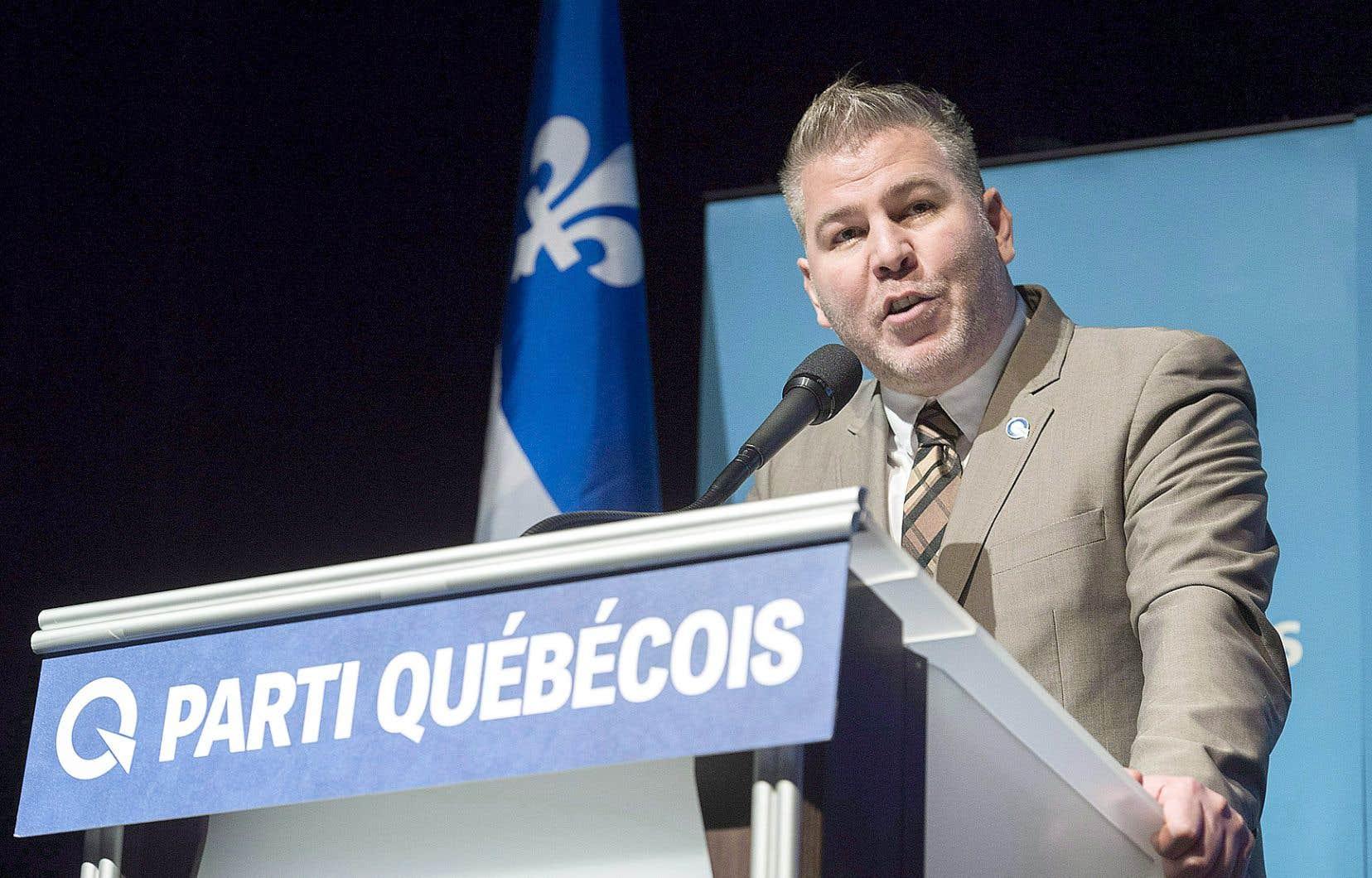 Le chef intérimaire du Parti québécois, Pascal Bérubé, lors d'une rencontre à Montréal en novembre dernier