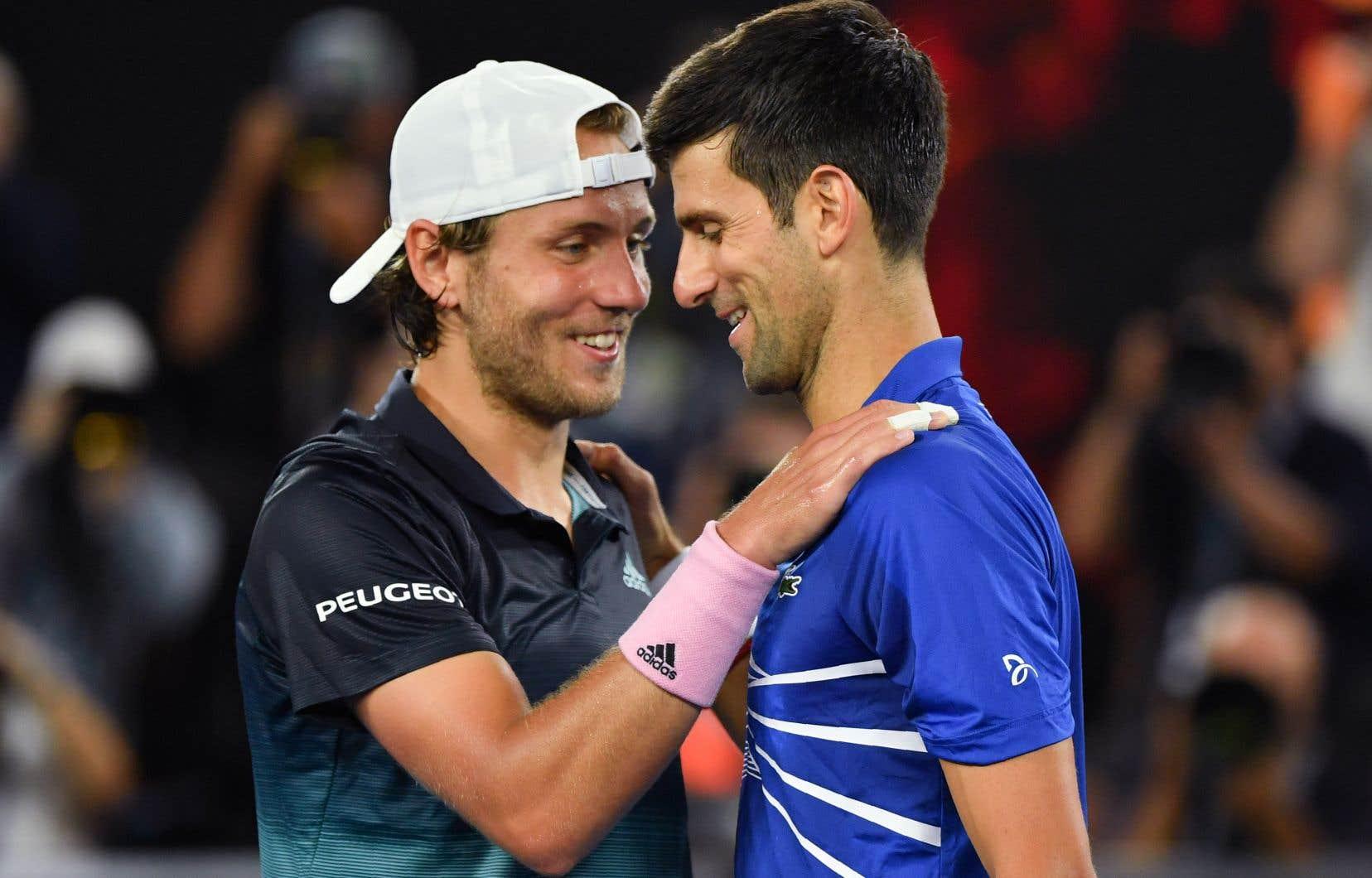 Djokovic n'a jamais ralenti la cadence contre le Français Lucas Pouille.