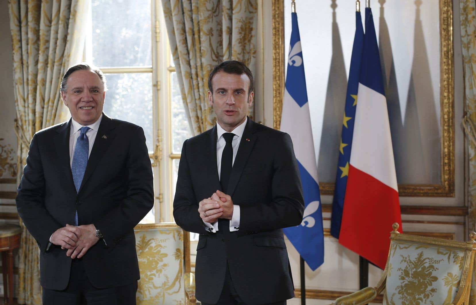 Sur la question économique Québec-France, François Legault a raison de vouloir redoubler d'ambition, font valoir les auteurs. Le premier ministre québécois a rencontré à l'Élysée le président français, Emmanuel Macron, le 21 janvier dernier.