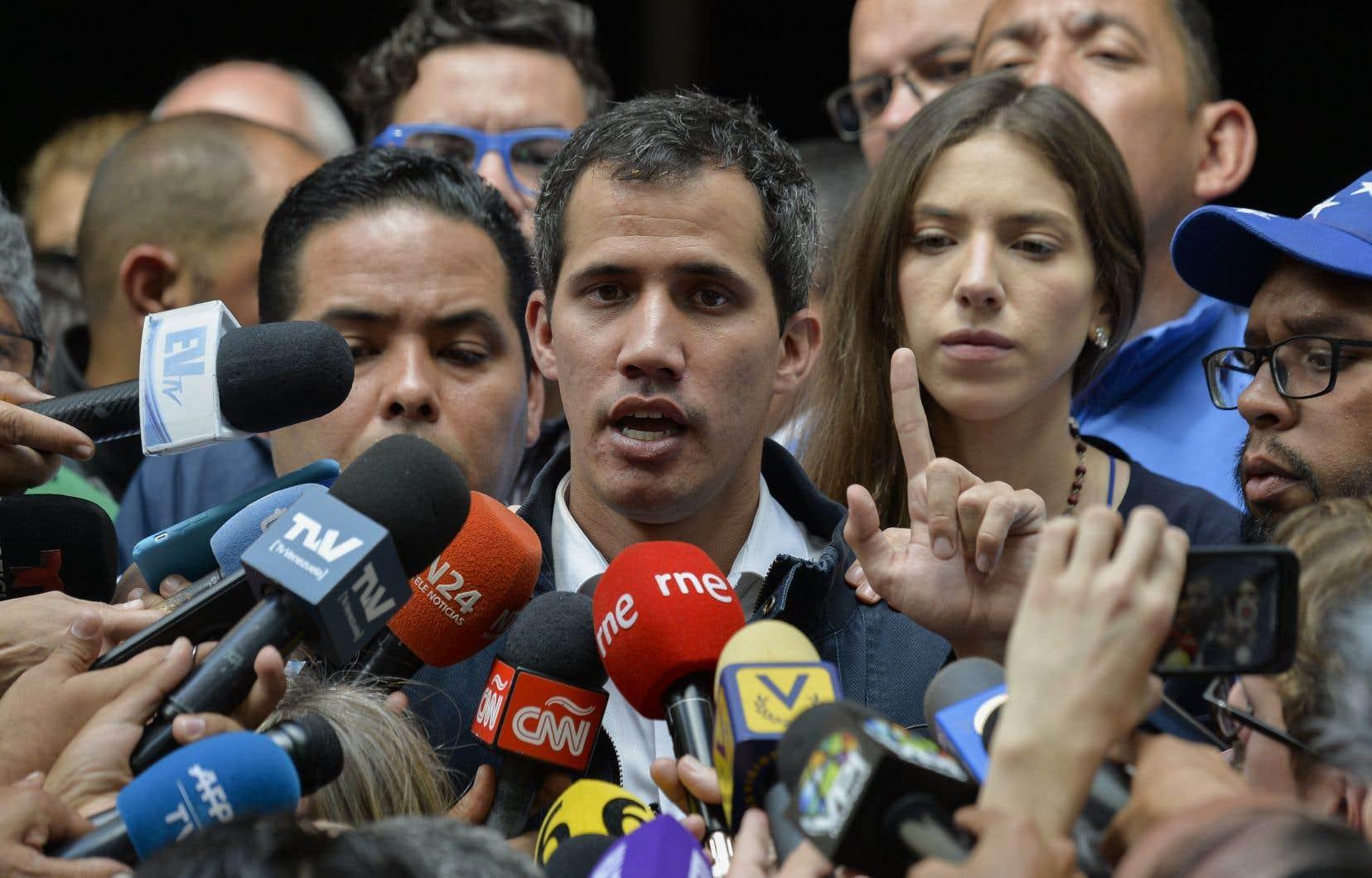 Le président autoproclamé du Venezuela, Juan Guaidó