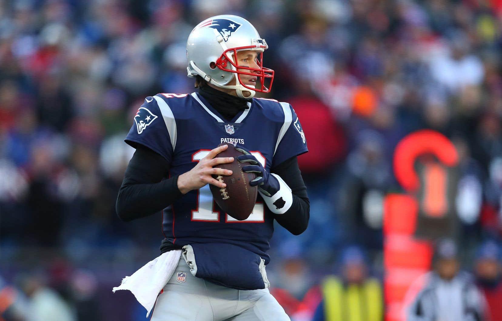 Tom Brady n'a pas subi de sac en deux matchs, depuis le début des éliminatoires.