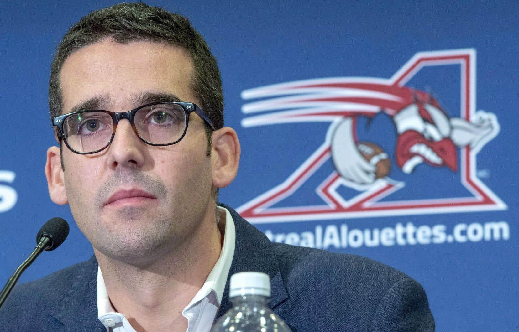 «La décision première était d'explorer notre identité, de trouver quel était l'ADN des Alouettes», a expliqué le président du club, Patrick Boivin.