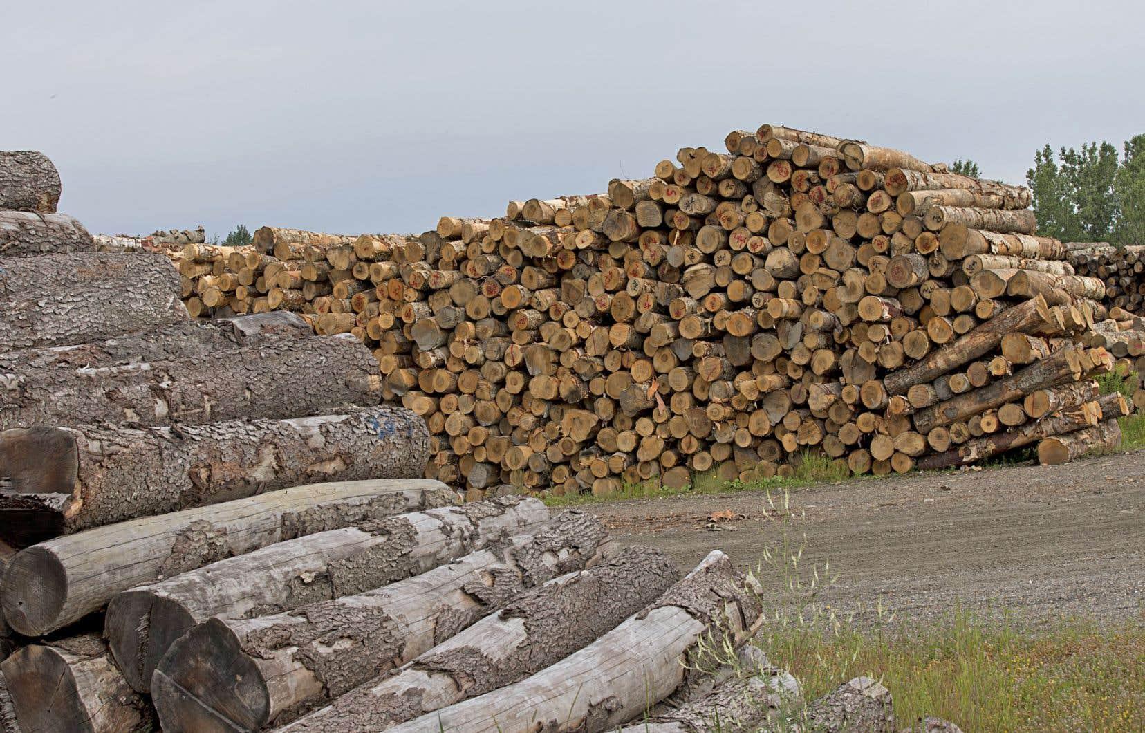L'entreprise québécoise a affirmé que les prix du bois d'oeuvre avaient été considérablement plus bas lors du dernier trimestre, ce qui l'a incitée à réduire sa production.
