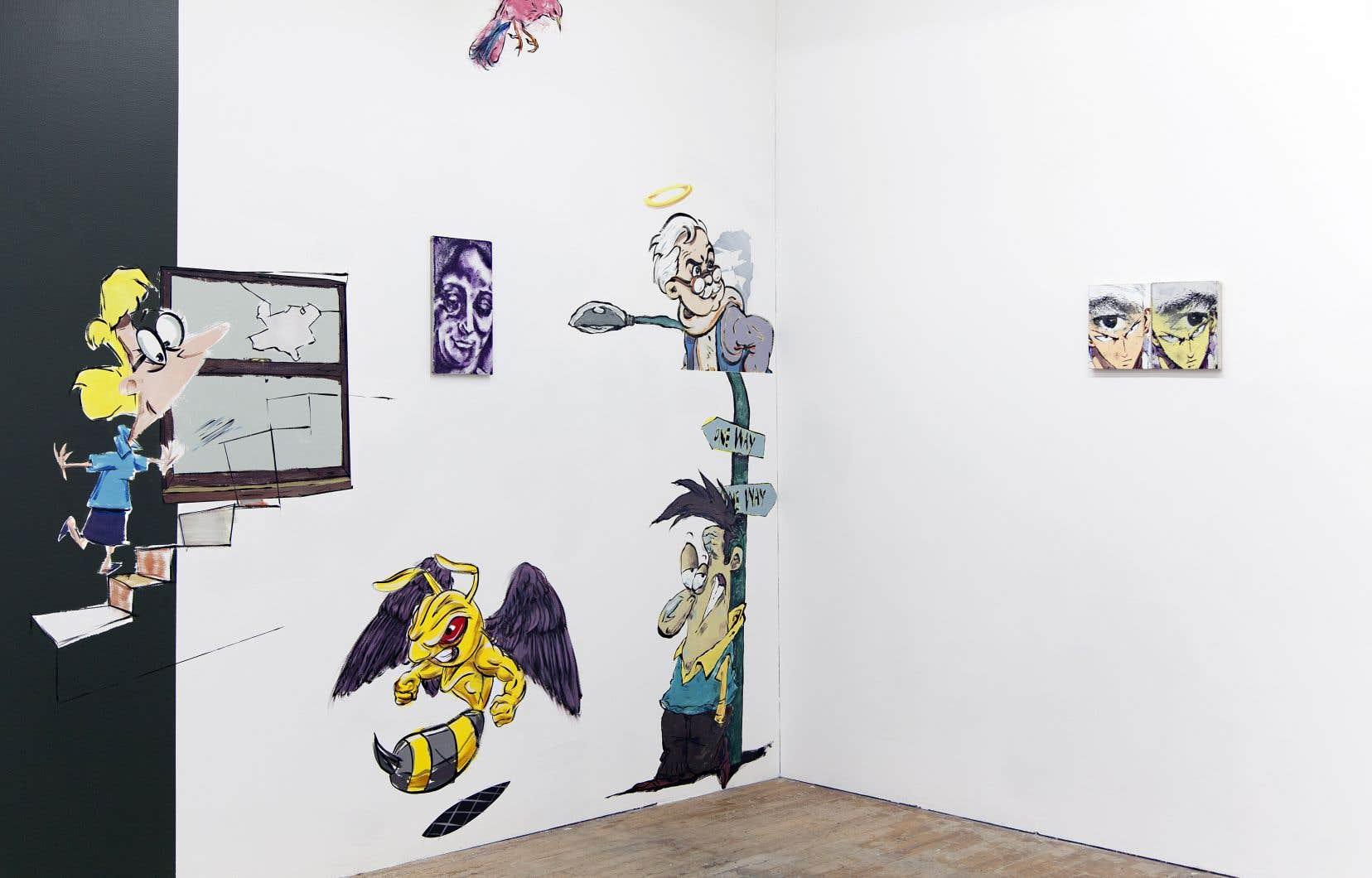 Vincent Larouche, «Bouches de cendres actives», 2019. Vue d'installation.