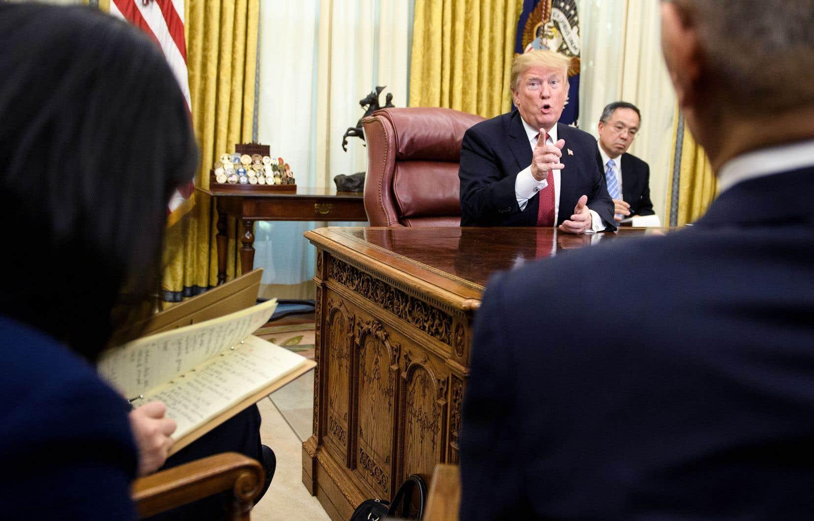 Trump salue des progrès dans les négociations avec pékin le devoir
