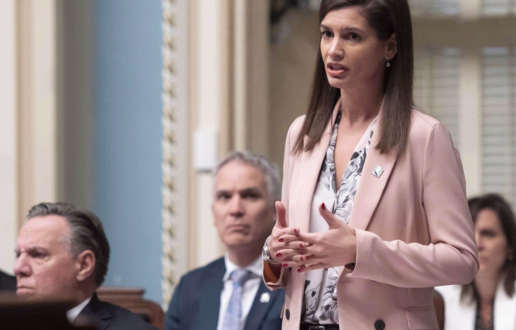 Laministre de la Sécurité publique et vice-première ministre du Québec,Geneviève Guilbault