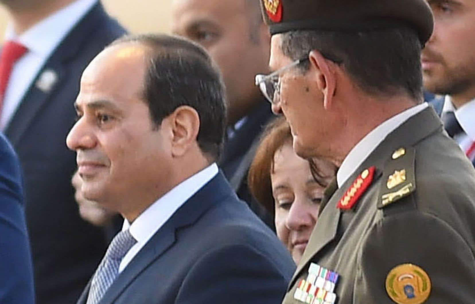 Abdel Fattah al-Sisi au Caire le 28 janvier