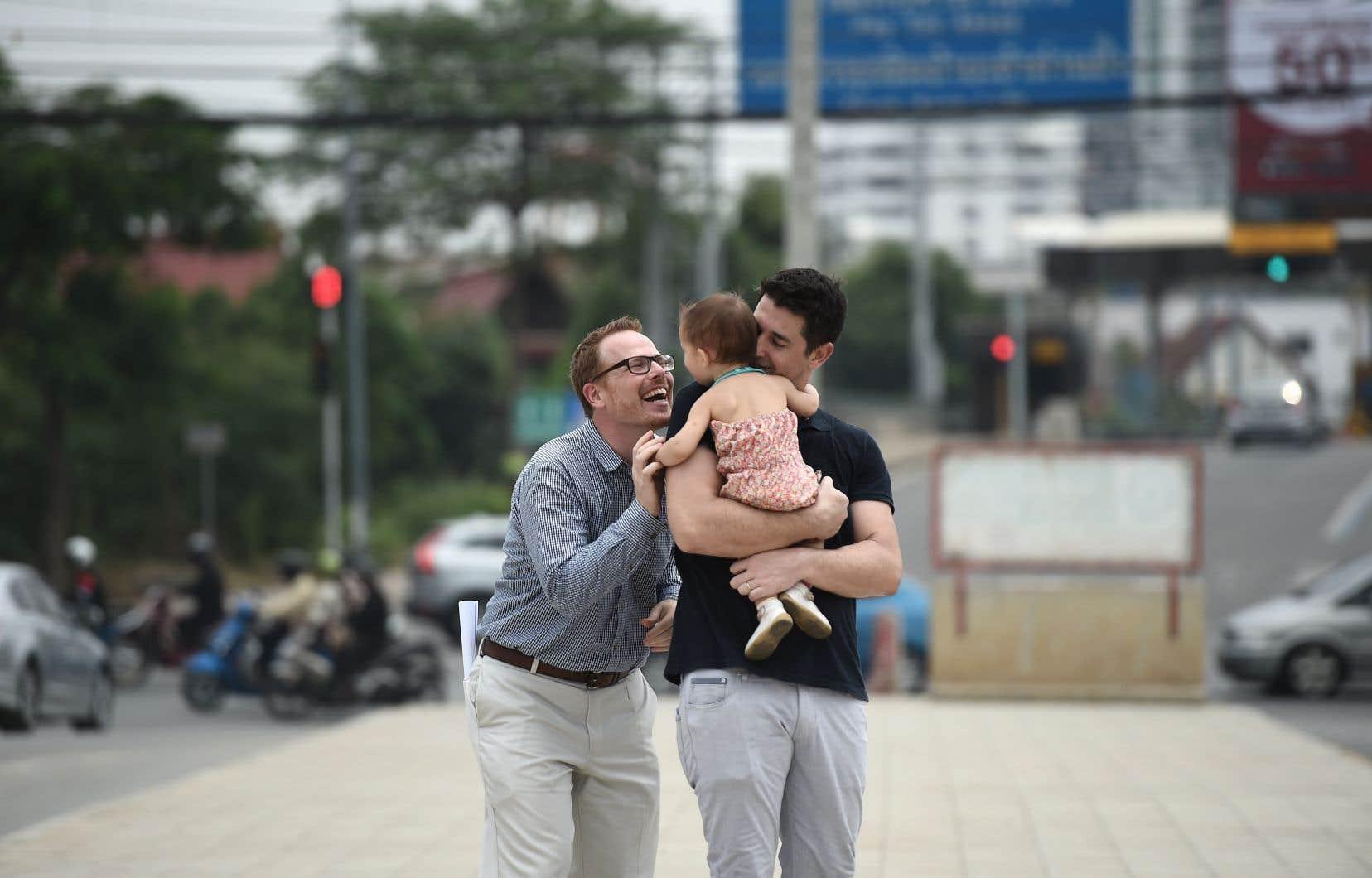 L'étude a porté sur 46 familles homoparentales.