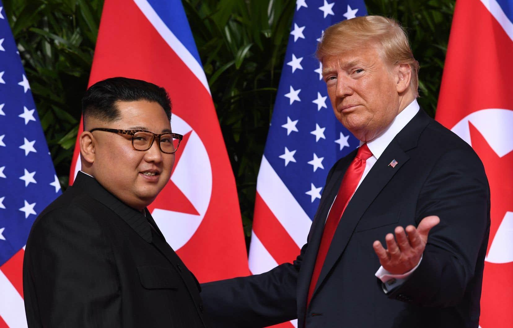 Lors de leur sommet de Singapour en juin dernier, le président américain, Donald Trump, et son homologue nord-coréen, Kim Jong-un, avaient évoqué la dénucléarisation de la Corée du Nord.