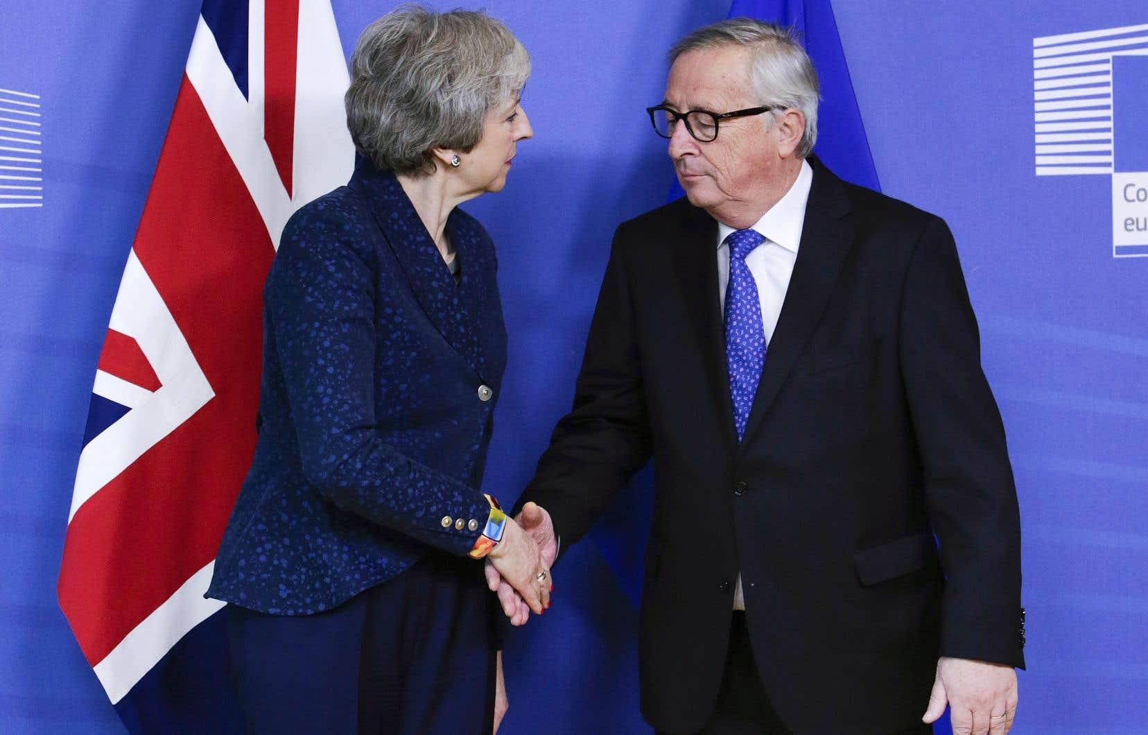 Theresa May a rencontré jeudi le président de la Commission européenne, Jean-Claude Juncker.