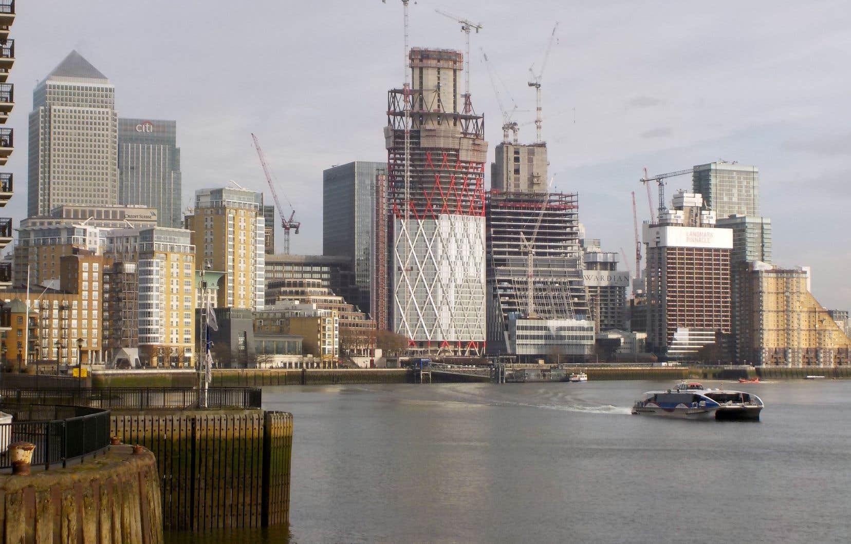 Les gratte-ciel de Canary Wharf