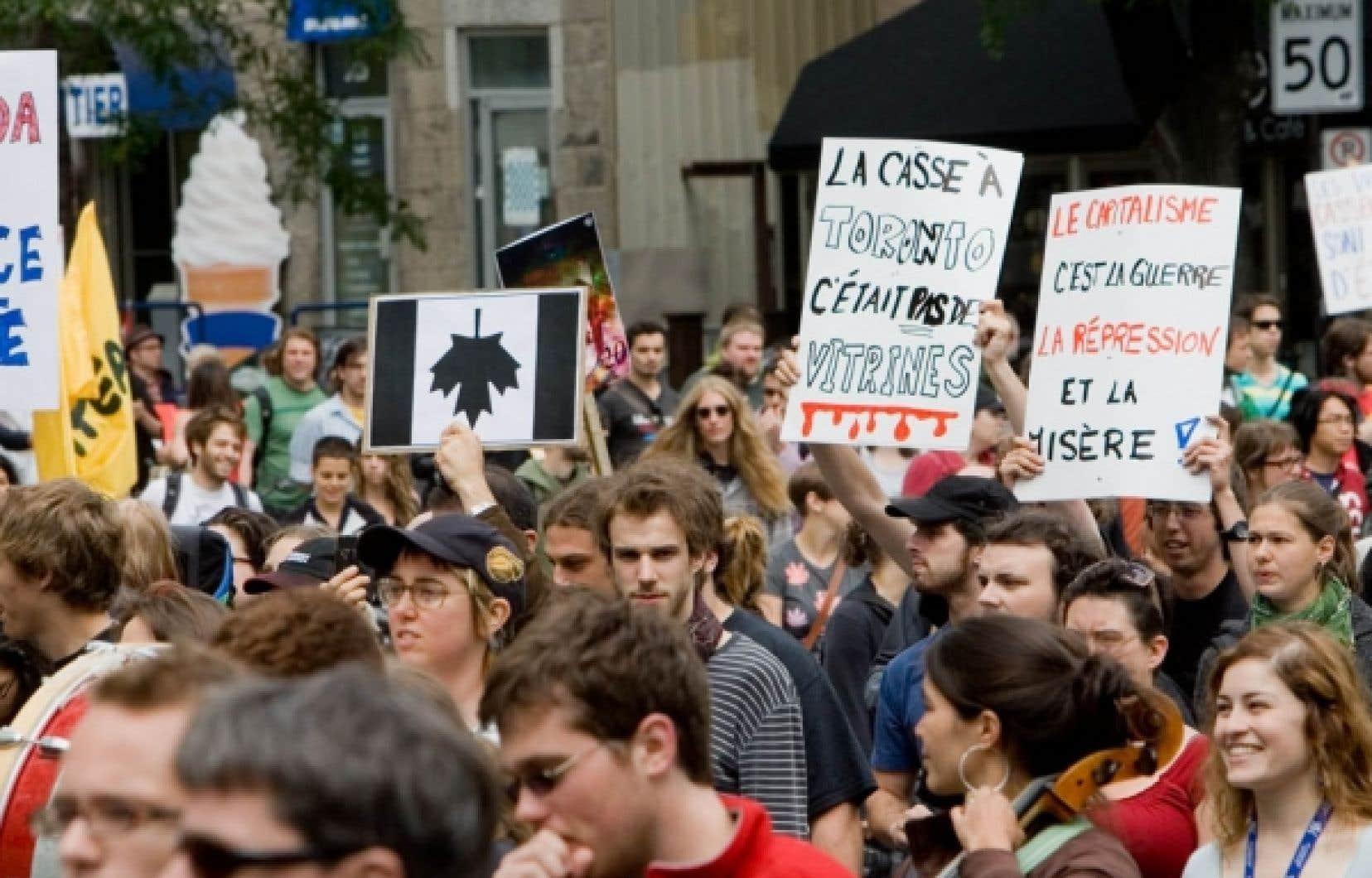 Manifestation contre la répression policière au G20<br /> <br />