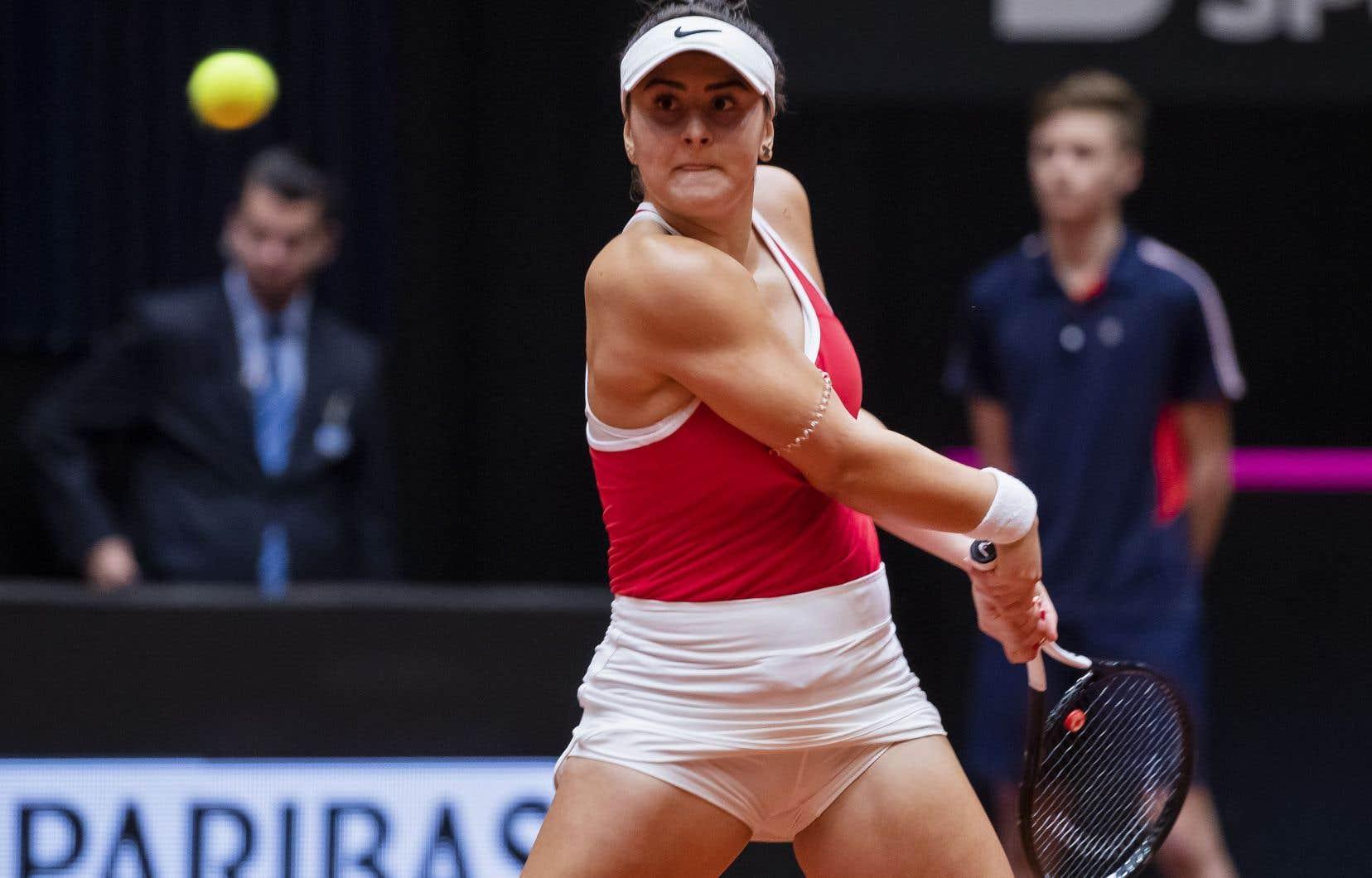 Bianca Andreescu a totalisé 21 coups gagnants contre Hogenkamp, samedi, et sa fiche est désormais de 9-3 à la Fed Cup.
