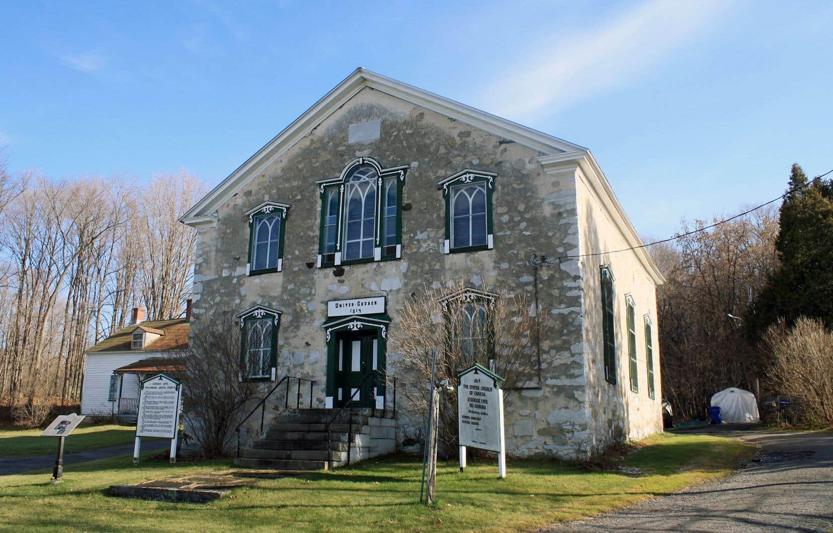 L'église méthodiste Philipsburg United, érigée en 1819. Plusieurs esclaves ont trouvé la liberté en traversant l'État du Vermont vers le village de Philipsburg, aujourd'hui Saint-Armand, dans les Cantons-de-l'Est, tout près de la frontière américaine.