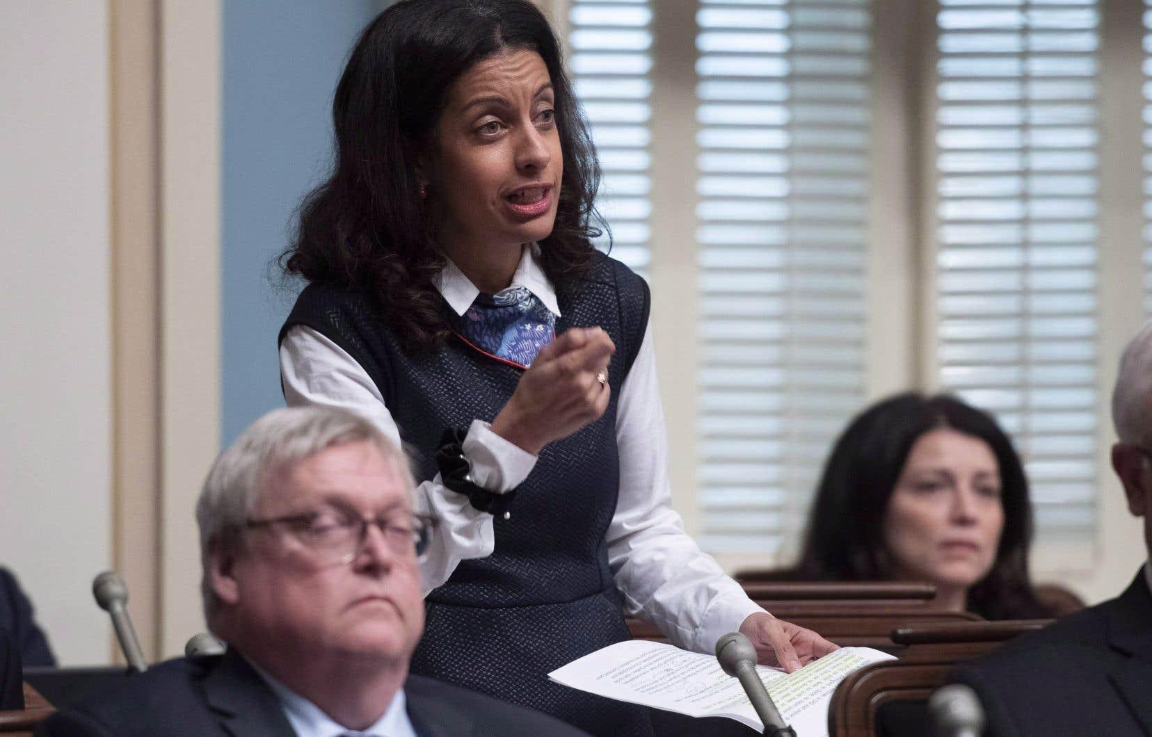 Pour la députée libérale de Saint-Henri–Sainte-Anne, Dominique Anglade, la façon de faire de la CAQ relève de «l'amateurisme».
